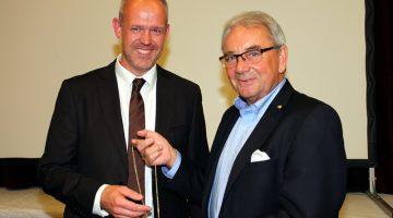 Der neue Präsident des AAK, Frank Prömpeler und der scheidende, Wilm Lürken (Foto Helmut Koch)