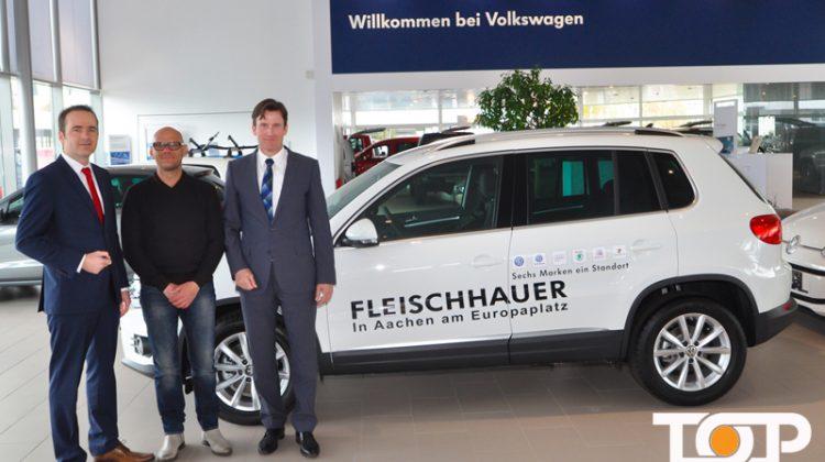 Verkaufsleiter Henrik Launhardt, Ali Rahnama und Geschäftsführer Andreas Krabbe