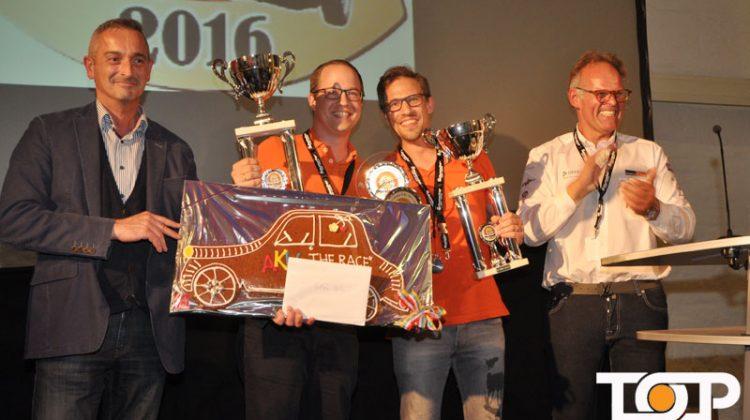Die Gesamtsieger der 8. AKV-Rallye Philipp und Martin Müther