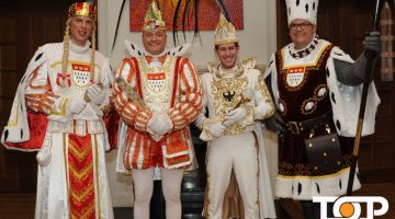 Das Kölner Trifolium und der Aachener Prinz beim traditionellen Gipfeltreffen
