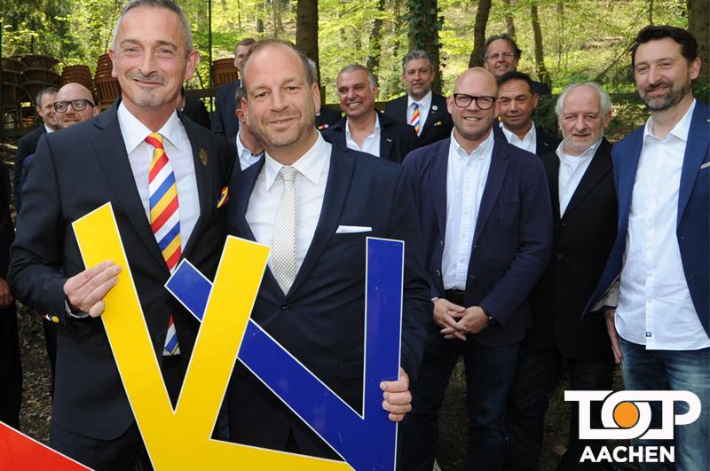 AKV Präsident Werner Pfeil und der des. Prinz Michael Foellmer