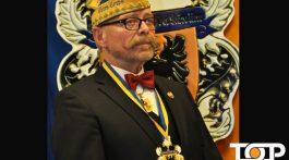 Hans Buchkremer als Ehrenoffizier des K.K. Oecher Storm