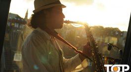 Saxophonist Karim Kahtan sorgte für beste Stimmung