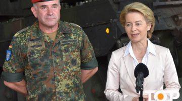Brigadegenaral Ralf Lungerhausen und Ministerin von der Leyen