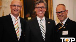 BDK-Präsident Klaus-Ludwig Fess, OB Marcel Philipp und AAK-Präsident Frank Prömpeler