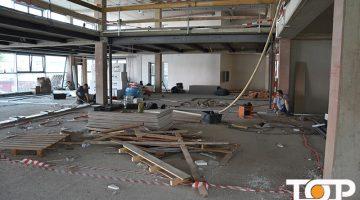Wo jetzt noch eine Baustelle ist wird bald ein Fitnesstempel erstrahlen