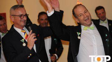 AKV-Präsident Werner Pfeil und Prinz Mike I. in Vorfreude auf die kommende Session