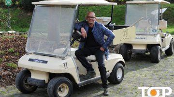 Ali Rahnama testet der VW e-up von Fleischhauer am Golfclub Haus Kambach