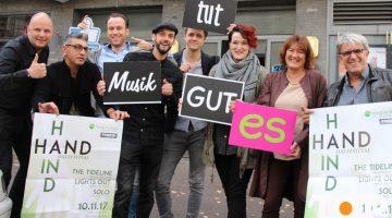 Hand in Hand-Initiator Markus Jussen (links) freut sich auf das Festival