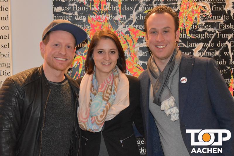 Künstler Michael Krüger, Marketing-Chefin Sarah Genender und Hotelmanager Andres Graeber-Stuch (v.l.n.r.)