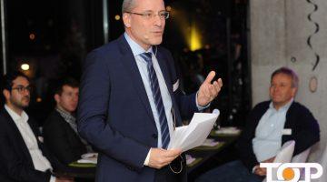 ProCom Geschäftsführer, Dr. Max Scheidt, bei seiner Ansprache